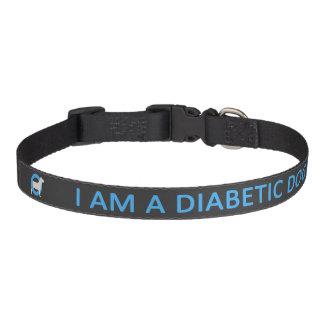 Dark Diabetic Dog medical alert Dog Collar