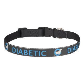 Dark Diabetic Dog Medical Alert Pet Collar