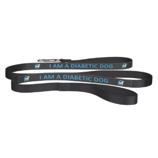 Dark Diabetic Dog medical alert Pet Lead