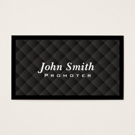 Dark Diamond Quilt Promoter Business Card