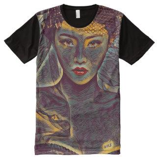Dark Dragon Lady Fantasy Art All-Over Print T-Shirt