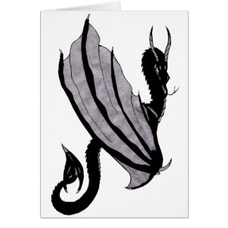 Dark Dragon Note Card
