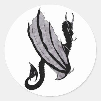 Dark Dragon Round Sticker