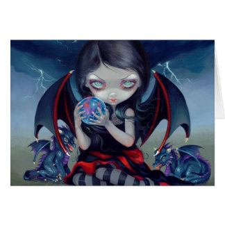 """Dark Dragonling"" Greeting Card"