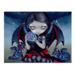 """Dark Dragonling"" Postcard"