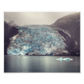 Dark & Dramatic Alaska Glacier   Photo
