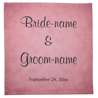 Dark Dusky Pink Mottled Pattern Wedding Napkin