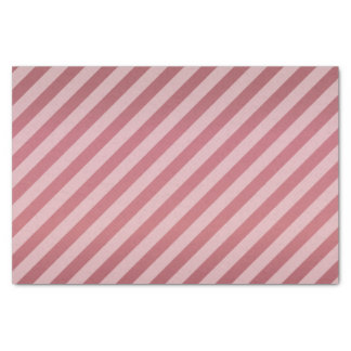 Dark Dusty Mauve and Diagonal Stripes Tissue Paper