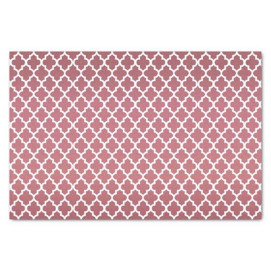 Dark Dusty Rose and Quatrefoil Pattern Tissue Paper
