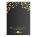 Dark Elegant Swirl Floral Earring Cards Pack Of Chubby Business Cards
