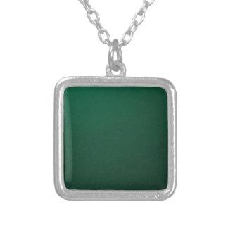 DARK EMERALD (a dark green design with fade) ~ Square Pendant Necklace