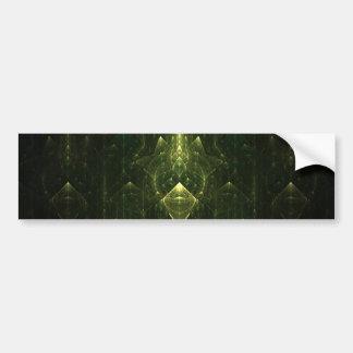Dark Emerald Green Faces. Fractal Art. Bumper Sticker