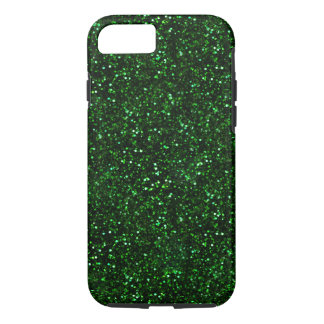 Dark Emerald Green Glitter iPhone 8/7 Case