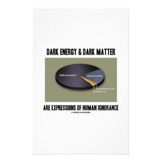 Dark Energy Dark Matter Expressions Ignorance Personalised Stationery