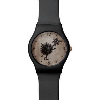 Dark Evil Bug Gives Flower Vintage Texture Wristwatches