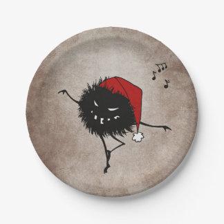Dark Evil Christmas Bug 7 Inch Paper Plate
