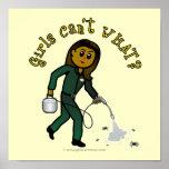 Dark Exterminator Girl Poster