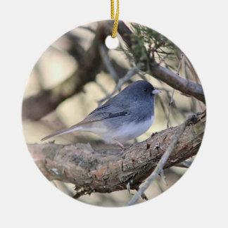 Dark-eyed junco christmas ornament