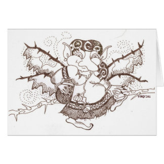 Dark Faerie Baba is Watching You Greeting Cards