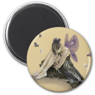 Dark Fairy Purple Wings Magnet