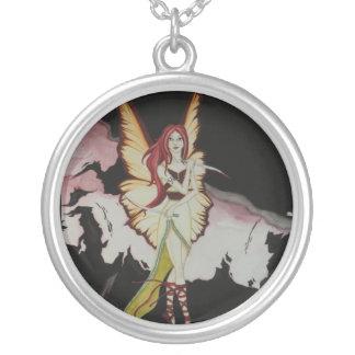 Dark Fairy Round Pendant Necklace