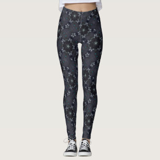 Dark Fairy Star Satin Leggings