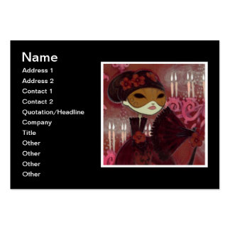 Dark Fairy Tale Character 10 - Masked Lady Business Card Templates