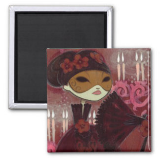 Dark Fairy Tale Character 10 - Masked Lady Square Magnet