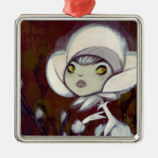 Dark Fairy Tale Character 11 Square Metal Christmas Ornament