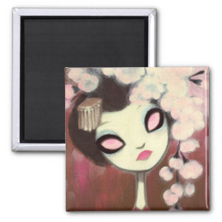 Dark Fairy Tale Character 13 Square Magnet