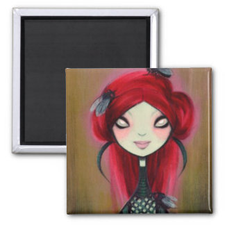 Dark Fairy Tale Character 14 Square Magnet