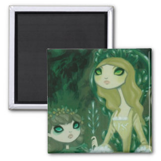 Dark Fairy Tale Character 15 Square Magnet
