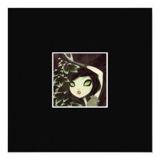 """Dark Fairy Tale Character 16 5.25"""" Square Invitation Card"""