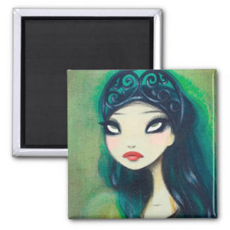 Dark Fairy Tale Character 17 Square Magnet