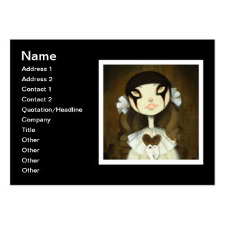 Dark Fairy Tale Character 1 Business Card Template