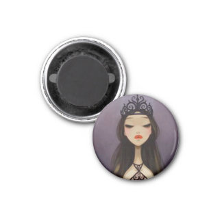 DARK FAIRY TALE CHARACTER 26 - QUEEN 3 CM ROUND MAGNET
