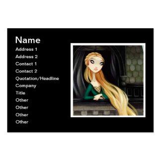 Dark Fairy Tale Character 2 - Rapunzel Business Card