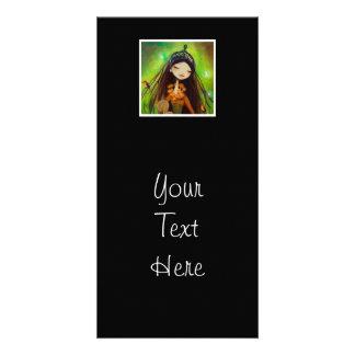 Dark Fairy Tale Character 4 Customized Photo Card