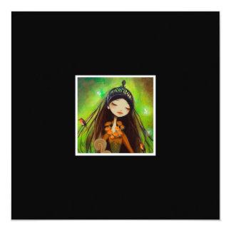 """Dark Fairy Tale Character 4 5.25"""" Square Invitation Card"""