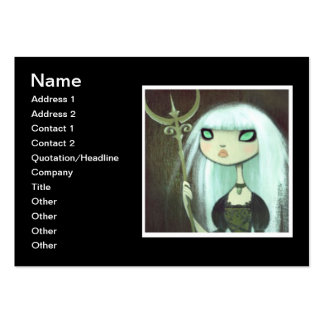 Dark Fairy Tale Character 6 Large Business Cards (Pack Of 100)