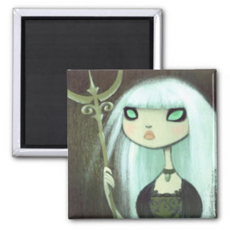 Dark Fairy Tale Character 6 Square Magnet