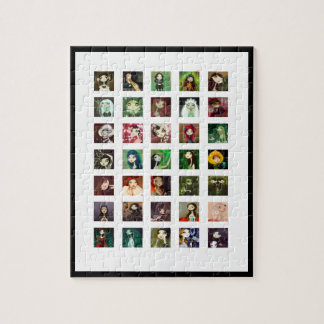 Dark Fairy Tale Character Collage Jigsaw Puzzles
