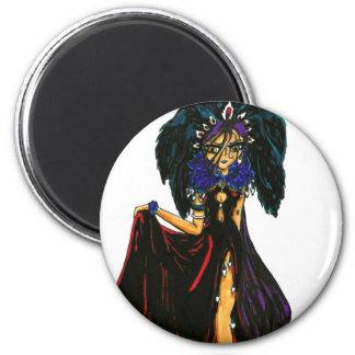 Dark Feather 6 Cm Round Magnet