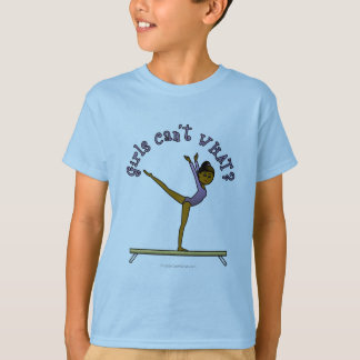 Dark Female Gymnast on Balance Beam T-Shirt