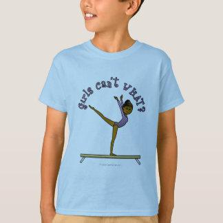 Dark Female Gymnast on Balance Beam T-Shirt