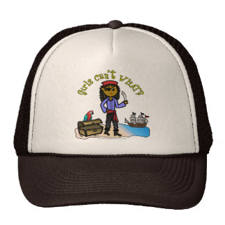 Dark Female Pirate Mesh Hat