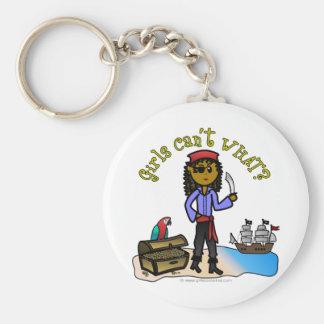 Dark Female Pirate Keychains