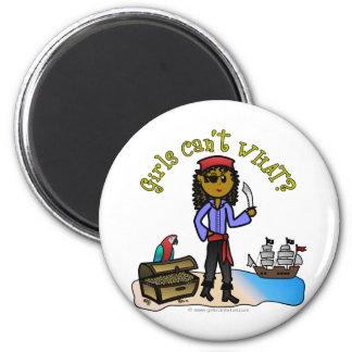 Dark Female Pirate Fridge Magnet