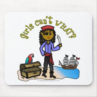 Dark Female Pirate Mouse Pad