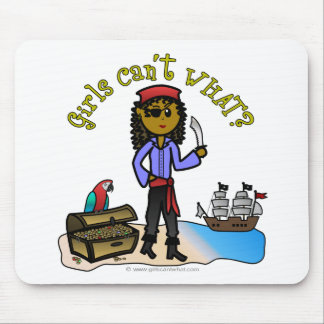 Dark Female Pirate Mousepad